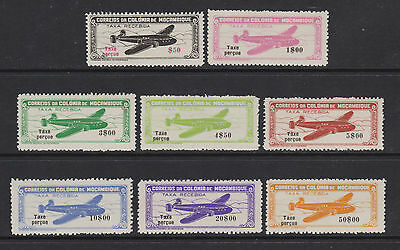 Mozambique SG 397/404 - l/m - 1946 - Air - overprinted Tax percue (8 stamps)