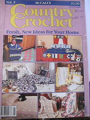 COUNTRY CROCHET by McCall's ..Vintage Magazine ..1987...beautiful patterns