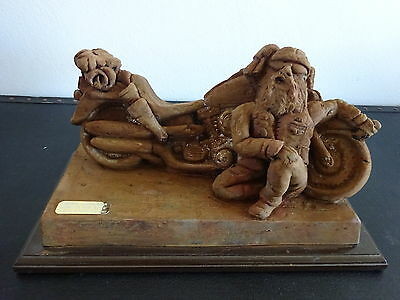 """Motorbike sculpture """"Rusty gold snotty collection"""""""