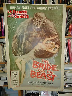 ED WOOD/THE BRIDE AND THE BEAST /S24N/ ORIGINAL 1 sheet poster 1958