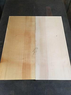 Huon Pine Soundboard Bookmatch Pair . Luthier #319
