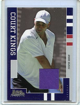 2005 Ace Authentic Court Kings Andre Agassi Match Worn Jersey # 180/250