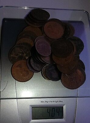 400g old pennies coins