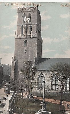 CE01. Vintage Postcard. The Cross and Old Steeple. Dundee.