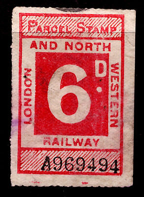 London And North Western Railway Parcel Stamp 6d Used  {#2153}