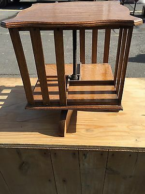 Antique Edwardian Revolving Bookcase.in Oak