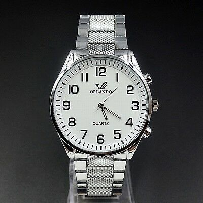 New Men's/Gents Orlando Silver Stainless Steel Watch