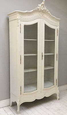 Elegant French Antique Louis Xv Glazed Armoire / Display