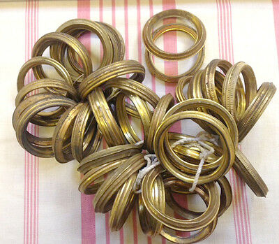 French Antique Gilded Toleware Curtain Rings - 36