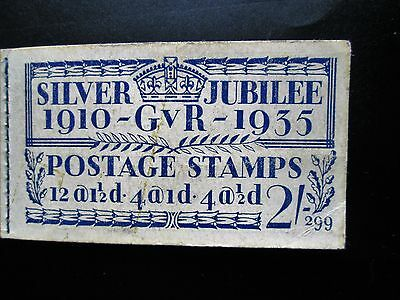 Stamps 1935 Silver Jubilee 2/- Booklet  Complete except for part pane of 2