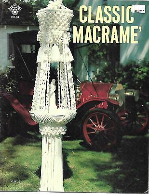 Classic  Macrame  Pattern and Instruction Booklet