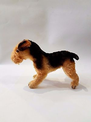 OLD VINTAGE STEIFF STRAW FILLED DOG TOY Terry Airedale