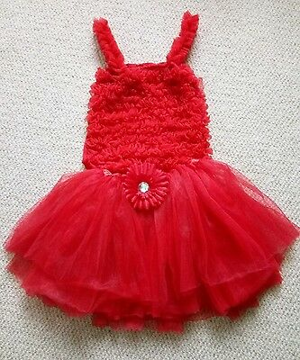 Girls Christmas Party skirt top tutu set 3 4 5 years red