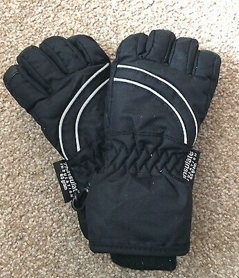 Kids H&m Black Ski Gloves Size 5-6 Years