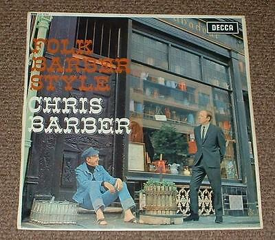 CHRIS BARBER folk barber style 1965 UK DECCA MONO LP
