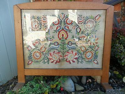 Completed Tapestry Oak Fire Screen
