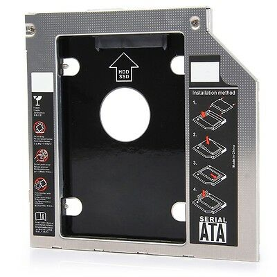 2nd CD/DVD-ROM HDD Hard Drive Caddy Tray SATA Optical Bay for 12.7mm Notebook
