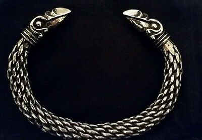 Viking / Norse Raven head design bracelet as seen in Vikings Series 2