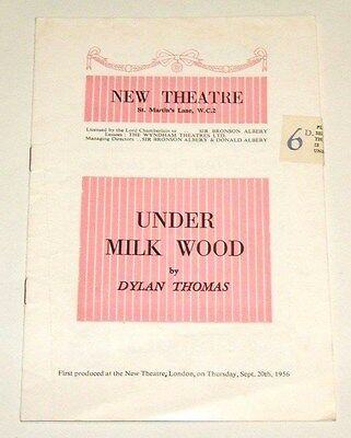 UNDER MILK WOOD by Dylan Thomas - NEW THEATRE - 1956