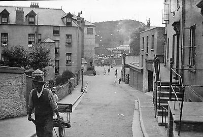 PHOTOGRAPHIC CELLULOID NEGATIVE ENGLISH SEASIDE TOWN  c1910 WEST COUNTRY?