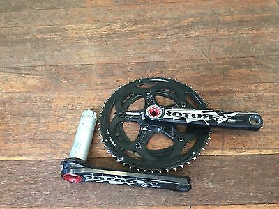 Rotor 3D+ 172.5mm crankset.  11 speed compatible rings (53/39)