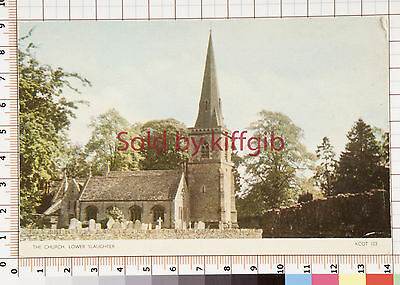 The church, Lower Slaughter vintage postcard