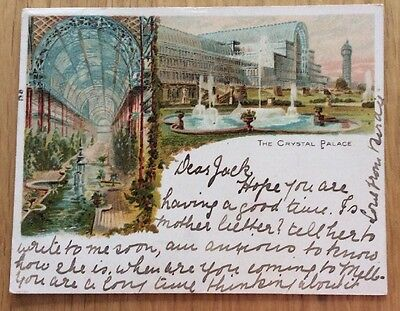 Court Card Of The Crystal Palace London Postcard
