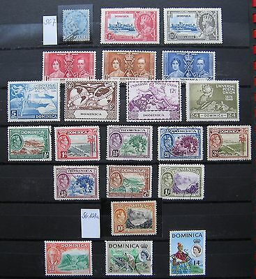 Collection DOMINICA used and MH