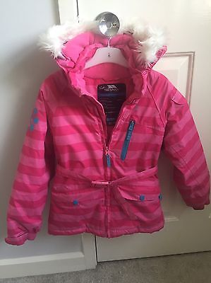 Girls Pink Trespass Ski Jacket Age 5-6 Years