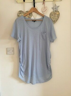 Women's Short Sleeved Pale Blue Maternity Top From New Look Size 16