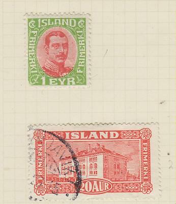 Ls99   Mint & Used Stamp From Iceland On Album Page