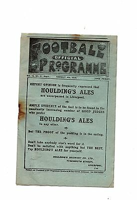 1919-1920 Liverpool v Bolton Wanderers  POST FREE