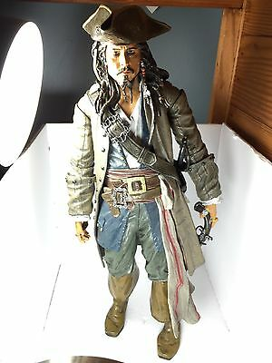 """Pirates Of The Caribbean Talking Captain Jack Sparrow 15"""" Tall Action Figure"""