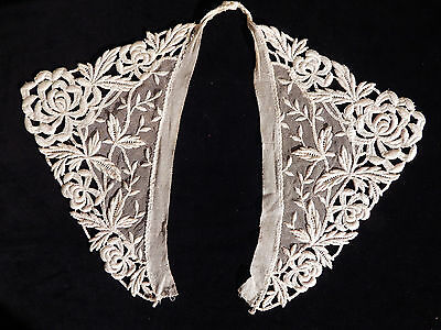 Antique Vintage Lace Collar French Whitework