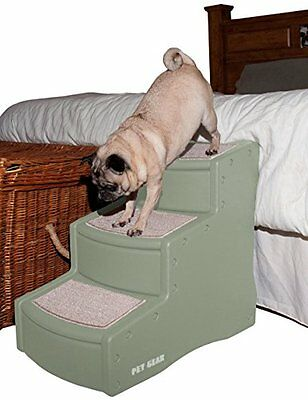 3 Step Pet Easy Three Climb Stairs Cats Small Large Dogs 150 Pounds Wider Deeper