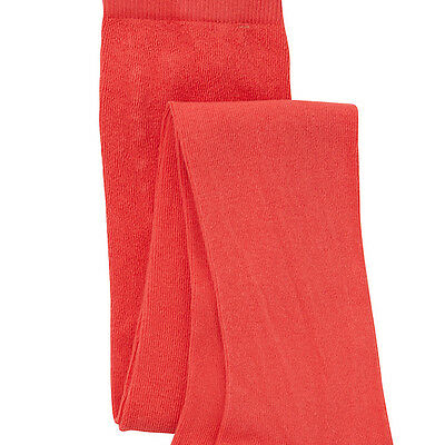 2 Pairs Of Brand New John Lewis Girls Red Tights - Ages 7-8 Years