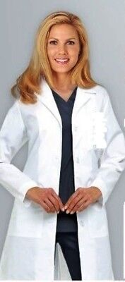 Medical White Women Long Lab Coats XS S M L XL 2XL Women Lab Coat FREE SHIPPING