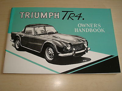 TRIUMPH TR4 OWNER'S HANDBOOK 6th EDITION QUALITY REPRINT BY BROOKLANDS BOOKS