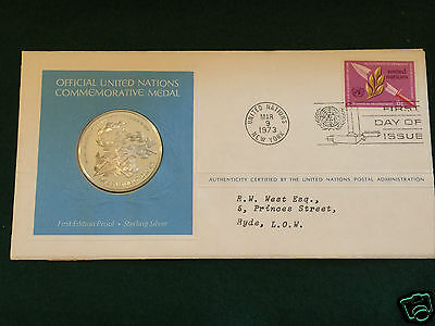 USA - Official United Nations Commemorative Medal - Disarmament-1973 - With COA.