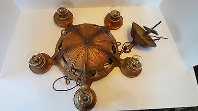 Vintage Lighting 1930s 5 socket Decor Chandelier by Lincoln