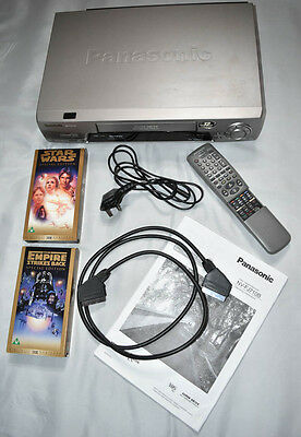 Panasonic Nv-Fj710 Vcr Video Recorder Player With Remote And Manual Fully Tested