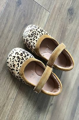 Next Girls Leopard Print Leather Shoes, Size 7