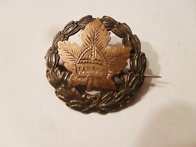 Vintage Sterling Silver & Silver Gilt 'Canada' Maple Leave Sweetheart Brooch