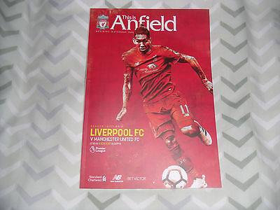 Liverpool Vs Manchester United Program Dated 17/10/2016
