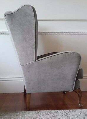 Vintage art deco style wing chair