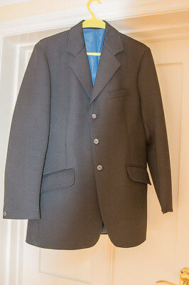 Mens / youths black riding , showing , hunting jacket Size 38