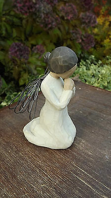 """Willow Tree   Figure """"Angel of Prayer"""" with wire wings"""