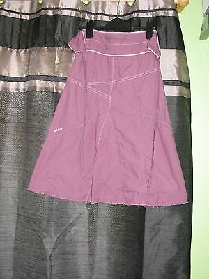 Light Plum Coloured Skirt By Fat Face Age 8