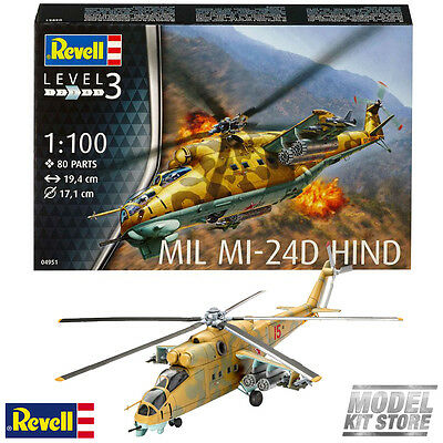 Mil Mi-24D Hind - 1/100 Revell Model Military Helicopters #4951 New
