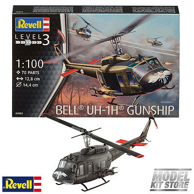 Bell® UH-1H® Gunship - 1/100 Revell Model Military Helicopters #4983 New